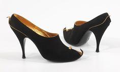 Cocktail shoes: Cocktail shoes Designer: Dal Co' (Italian) Date: 1958 Culture: Italian Medium: leather