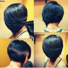 GORG! I love that the nape area is NOT a basic cut... PERSONALIZED!!