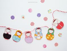 Free Printable Matryoshka Garland | DESIGN IS YAY!
