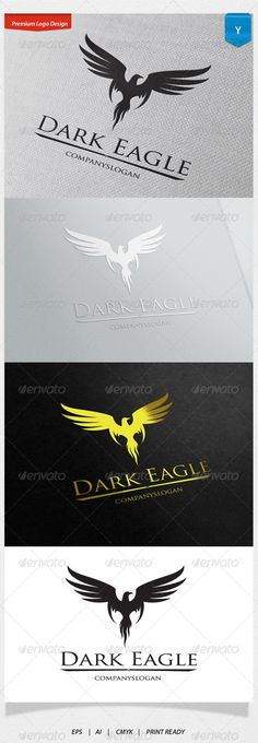 Dark Eagle Logo #GraphicRiver Logo Template Features 1. Excellent logo,simple and unique. 2. Fully editable with .eps 10 format 300 PPI CMYK. 3. Fully editable with AI file format 4. This Logo use free font you can read more detail in help file document. Created: 22November13 GraphicsFilesIncluded: VectorEPS #AIIllustrator Layered: No MinimumAdobeCSVersion: CS Resolution: Resizable Tags: AnimalLogo #birdlogo #dream #eaglelogo #flying #freedom #going #royallogo #wold