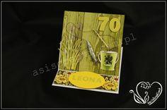 Kartka dla siedemdziesięcioletniego wędkarza z Kaszub  #asiscrapki