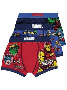 Marvel Comics Avengers 3 Pack Trunks, read reviews and buy online at George at ASDA. Shop from our latest range in Kids. Your little superhero can't wear a c...