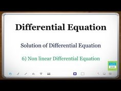Differential Equation (GATE): Linear Differential - YouTube