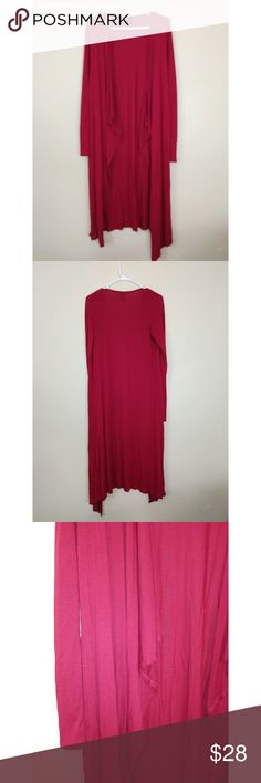 BKE red long cardigan BKE red long cardigan. Burgendy red color. No flaws. Size: Small BKE Sweaters Cardigans