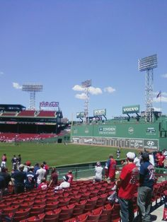 Fenway Park - Green Monster--sat in this section viewing the Green Monster and overlooking the bullpen--fabulous!