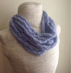 Perfect in Periwinkle Lace Infinity Scarf
