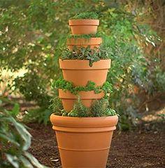 DIY Terracotta Herb Tower Terracotta Herbs and Gardens