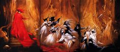 Phantom of the Opera illustrated by Anne Bachelier.  I NEED this...These paintings are making my heart explode with joy.