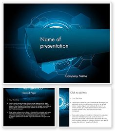 geometric composition powerpoint template | powerpoint templates, Modern powerpoint