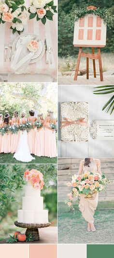 Navy blue and peach wedding colour theme ideas peach wedding the top 8 peach wedding colors combinations trends for 2017 junglespirit Gallery