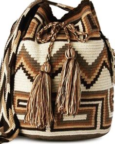 """New Cheap Bags. The location where building and construction meets style, beaded crochet is the act of using beads to decorate crocheted products. """"Crochet"""" is derived fro Mochila Crochet, Crochet Tote, Crochet Purses, Crochet Chart, Bead Crochet, Crotchet Bags, Knitted Bags, Tapestry Crochet Patterns, Tapestry Bag"""