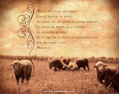 Psalm 23 —The Lord is my Shepherd - Scripture Art - Bible Verse Art - Christian Gift - Christian Art - Scripture Wall Art - Inspirational Art - Inspirational Quote - Religious Home Decor - Christian Home Decor - Psalms Art Print - Psalm 23 Art - Religious Gift - Confirmation Gift - View more Inspirational art and be encouraged by Life Verse Design