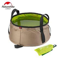 Naturehike 10l de agua lavabo ultraligero portátil al aire libre plegable de nylon bolsa de lavado baño de pies equipo de camping kits de viaje