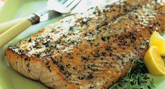 Flecked with thyme leaves, this salmon fillet makes a beautiful presentation.