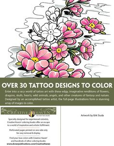 Creative Haven Modern Tattoo Designs Coloring Book Dover Publications