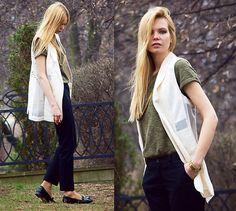 H&M Pants, Zara Schoes, Cubus Blouse, H&M Vest