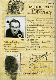 fausse carte d'identité de Céline - Louis Ferdinand Céline en photo