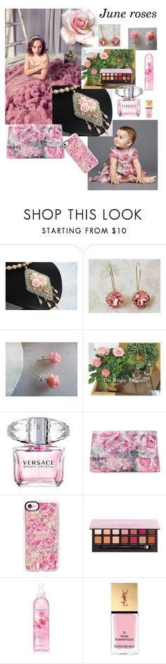 """June roses"" by varivodamar ❤ liked on Polyvore featuring Dolce&Gabbana, Versace, Adrianna Papell, Casetify, Avon, Yves Saint Laurent and modern"