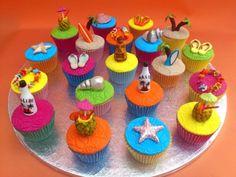 Hawaiian Party Themed Novelty Cupcakes