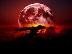 lua vermelha Vetor