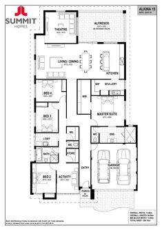 Alkina - 9 Rue Place, Treeby - Summit Homes New House Plans, Dream House Plans, House Floor Plans, Romantic Home Decor, Romantic Homes, Home Remodeling, Home Renovation, Summit Homes, Garage Entry