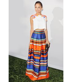 Nicole Richie Richie arrived at the 2nd Annual Baby2Baby Gala in Los Angeles earlier this month in a colorful ensemble from the Alberta Ferretti S/S 14 collection, which she accessorized with a House of Harlow 1960 Wynn Clutch ($158).