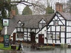 The Old Bull, in Inkberrow, Worcestershire.  It is at this historic public house or wayside inn, a black and white half-timbered building, that William Shakespeare is reputed to have stayed while on his way to Worcester to collect his marriage certificate.