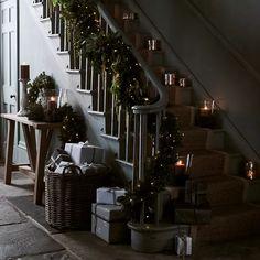 Christmas | Neptune Christmas Interiors, Christmas Room, Country Christmas, Green Christmas, Christmas Stuff, Christmas Greenery, Christmas Decorations, Christmas Centerpieces, Ethnic Decor