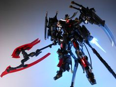 Frame Arms: NSG-Z0/D Magatsuki - Custom Build w/ LEDs      Modeled by Tuntun_k