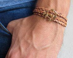 Men's Bracelet Men's Arrow bracelet Men's Leather by Galismens