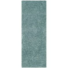 Athens Shag Seafoam 2 ft. 3 in. x 10 ft. Runner