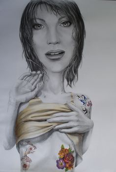 Antonia Griva, Inked and Sexy, pencil and waterpencil on paper, 102x72cm