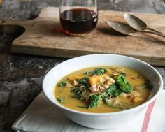 Sweet Potato Quinoa Stew with White Beans and Spinach