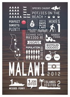 Malawi. Beautiful Travel Infographics Of South African Countries - DesignTAXI.com
