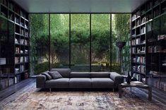 Del Oro Luxus Apartment Homes Home Library Design, Dream Home Design, Modern House Design, My Dream Home, Home Interior Design, Interior Architecture, Dream Homes, Modern Architecture House, Dream House Interior