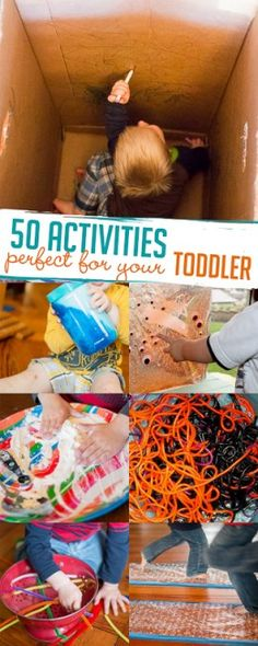 Toddlers will love these are 50 activities for exploring, creating and having fun with!