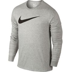 Swap out your ordinary t-shirts for the exclusivity of the Nike® Men's Elite Graphic Long Sleeve Basketball Shirt. Its soft, cotton-blend fabric and long sleeve design offer coverage that is sure to keep you comfortable on and off the court. Its ribbed neckline and cuffs create a secure, durable fit that stays put as you move. Embrace unmatched style and comfort with the Elite Graphic Long Sleeve Basketball Shirt.