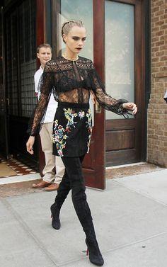 "daiilycelebs: ""  7/30/16 - Cara Delevingne leaving her hotel in NYC. """