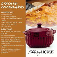 Stacked Enchiladas (using Bean Pot from Celebrating Home)