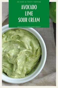 Perfect for dipping and topping, this easy Avocado Lime Sour Cream has all of the flavors of avocado and lime coupled with the richness of sour cream, making it the perfect taco topper, vegetable dipper or sandwich spread around. Ditch your regular mayo or sour cream and kick it up a notch with this delicious spread. Easy healthy snacks. Easy snacks for dipping. Late-night snacks. Easy clean eating snacks. Healthy snacks for weight loss. #healthysnacks Healthy Taco Recipes, Healthy Tacos, Protein Snacks, Easy Snacks, Easy Meals, Lime Sour, Sour Cream Sauce, Sandwich Spread