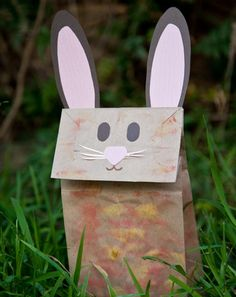 Make a Bunny Paper Bag Puppet