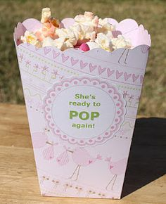 DIY-SHE'S READY TO POP, AGAIN! POPCORN BOX FAVORS