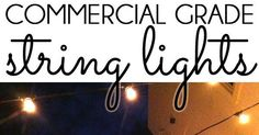 An Ideas About Patio & Lighting: HOW TO HANG PATIO STRING LIGHTS! Commercial grade string lights are ideal for permanent installation in your yard and can withstand the elements year round.