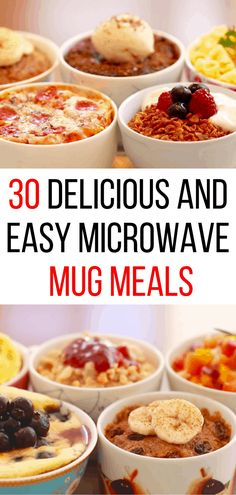 30 Easy and Delicious Microwave Mug Meals is part of food-recipes - These delicious microwave mug meals are quick and easy to make! Perfect for dorm living, office kitchens, or just a quick meal on the go Easy Microwave Recipes, Microwave Dinners, Baking Recipes, Microwave Cooking Recipe, Healthy Microwave Meals, Microwave Baking, Thai Recipes, Baking Ideas, Salmon Recipes