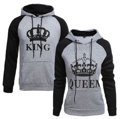 Crown King/Queen Hooded Sweater – Ecolo.luca