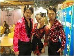 With Takahiko Kozuka and Akiko Suzuki