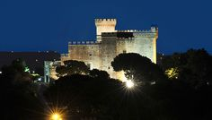Castelldefels Castle at night