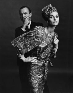 Anne Saint-Marie and the designer Bill Blass, 1960's