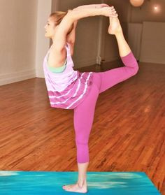 Do these 8 poses to warm up your body, and then easily make your way into this graceful balance pose. - Shape.com