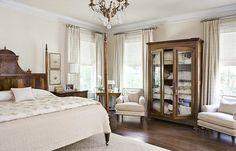 antique cupboard in the bedroom for linen storage